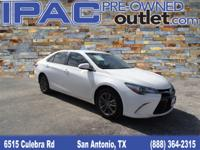 2015 Toyota Camry XSE Super White and Black Leatherette