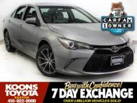 2015 TOYOTA CAMRY XSE IN CELESTIAL SILVER METALLIC,