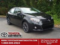 New 2015 Toyota Corolla S Plus. Standard features