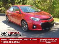 New 2015 Toyota Corolla S Plus. Conventional features