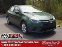 New 2015 Toyota Corolla LE. Standard features include: