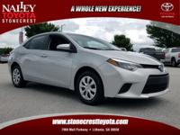 New Price! Recent Arrival! CARFAX One-Owner. Corolla L