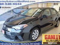 Toyota Corolla 2015 L Black Sand Mica CARFAX One-Owner.
