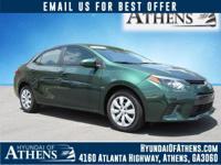 2015 Toyota Corolla LE, Only One Owner, Low Miles!, And