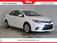 CARFAX One-Owner. 2015 Toyota Corolla LE in Super