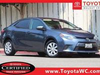 Toyota Certified, One Owner, Low Miles, Clean Car Fax,