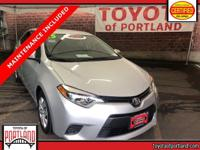 **THIS VEHICLE IS CERTIFIED ** This 2015 Toyota Corolla