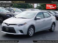 This 2015 Toyota Corolla 4dr 4dr Sedan CVT LE features