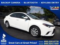 Used 2015 Toyota Corolla,  DESIRABLE FEATURES:  a