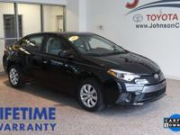 New Price! 2015 Black Toyota Corolla CLEAN CARFAX**,