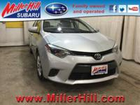 2015 Toyota Corolla LE ready to go! With hardly any
