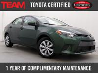 *LOW MILES* Toyota Certified 2015 Corolla LE with just