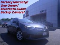 Check out this one owner 2015 Toyota Corolla LE we just