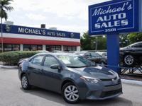 Options:  2015 Toyota Corolla Le|Gray|There's No