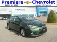 Options:  2015 Toyota Corolla Le|Green/|V4 1.8 L