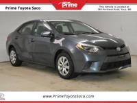 CARFAX One-Owner! Toyota Certified! 2015 Toyota Corolla