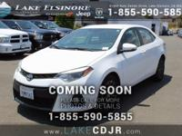 CARFAX One-Owner. CVT Clean CARFAX. 2015 Toyota Corolla