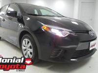 2015 Toyota Corolla LE Certified.  NEW TIRES, **IRON