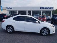 CarFax 1-Owner, This 2015 Toyota Corolla LE will sell