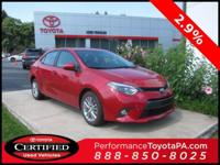 ONE OWNER!! 2015 TOYOTA COROLLA LE PREMIUM!! TOUCH