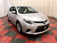 Climb inside our One Owner 2015 FWD Toyota Corolla S