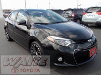 2015 Toyota Corolla S Plus Black Sand Mica ONE OWNER,