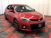 Our incredible One Owner 2015 Toyota Corolla S Plus