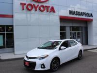 Wh 2015 Toyota Corolla S Plus LEATHER SUNROOF FWD 1.8L