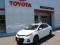 SUPER CLEAN ONE OWNER COROLLA S PLUS. DEALER SERVICED