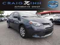 CarFax One Owner! This Toyota Corolla is CERTIFIED!