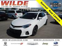 Options:  2015 Toyota Corolla S Plus|Super White/Steel