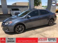 Clean CARFAX. Slate 2015 Toyota Corolla S Plus FWD CVT
