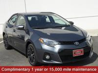 CARFAX One-Owner. Certified. Slate Metallic 2015 Toyota