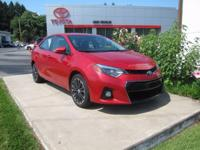 ONE OWNER!! 2015 TOYOTA COROLLA S PLUS!! TOYOTA