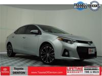 CARFAX One-Owner. Silver 2015 Toyota Corolla S Premium