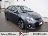 Climb inside our 2015 Toyota Corolla FWD shown in