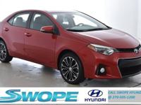 Recent Arrival! This 2015 Toyota Corolla S Plus in Red