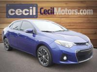 Step into the 2015 Toyota Corolla! Very clean and very