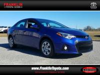 Corolla S and Medium Blue. You'll NEVER pay too much at