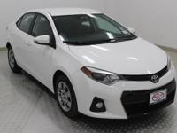 Options:  2015 Toyota Corolla S|Super White|Black