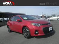Used 2015 Corolla, 21,715 miles, options include:
