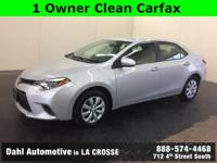 Just Reduced! 2015 Toyota Corolla LE CARFAX One-Owner.
