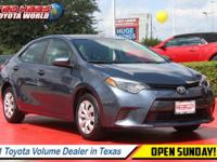 Check out this reliable 2015 Toyota Corolla . Urethane