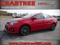 Options:  2015 Toyota Corolla S|S 4Dr Sedan|1.8L|4