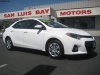 Options:  2015 Toyota Corolla S|White/Black|V4 1.8