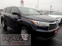 2015 Toyota Highlander LE V6 Nautical Blue Metallic