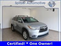 Toyota Highlander LE V6 CARFAX One-Owner. Certified.