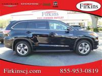 New Price! Clean CARFAX. Black 2015 Toyota Highlander