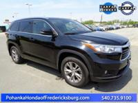 This 2015 Highlander is a one owner vehicle with a