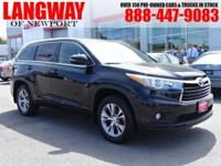 New Price! 2015 Toyota Highlander XLE V6 CARFAX